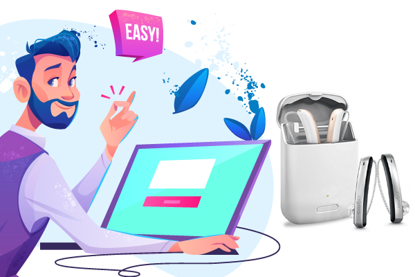 Comtrl your hearing aids remotly
